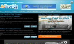 Screenshot of AdProvide.com - Ultimate Ad Provider System