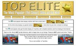 Screenshot of Top Elite - The Most Popular (Yet Clean!) Sites on the Web