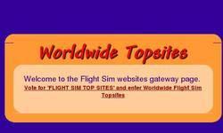 Screenshot of Worldwide flight sim topsites