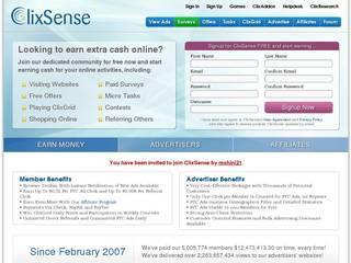 Screenshot of CLICKSENSE