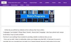 Screenshot of Rick's Programs