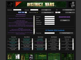 Screenshot of District Wars
