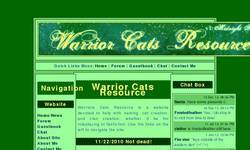 Screenshot of Warrior Cats Resource