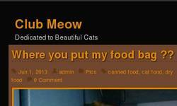 Screenshot of Cat Site