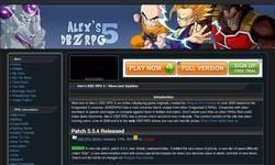 Screenshot of Alex's DBZ RPG