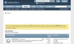 Screenshot of Community Forums