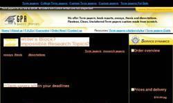 Screenshot of Termpapers