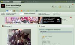 Screenshot of My DeviantART Account