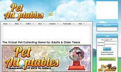 Screenshot of Virtual Pets at PetAdoptables.com
