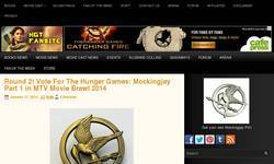 Screenshot of The Hunger Games Trilogy Fansite