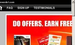Screenshot of Rewards1.com #1 Site For Free Prizes And Games