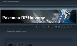 Screenshot of Pokemon RP Universe