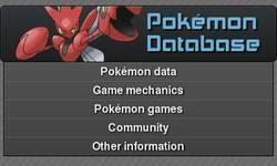 Screenshot of Pokemon Database