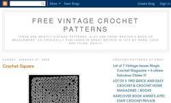 Screenshot of Free Vintage Crochet Patterns