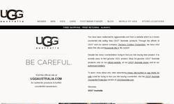 Screenshot of uggs sale