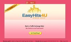 Screenshot of EasyHits4U Traffic Exchange