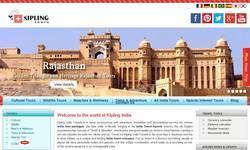 Screenshot of Kipling India Travel