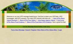 Screenshot of Best Aliens UFOs Forums.
