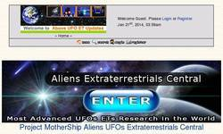 Screenshot of Aliens Extraterrestrials UFOs Forums.