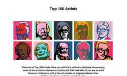 Screenshot of Top 100 Artists