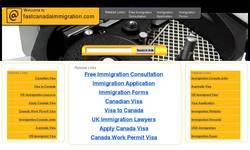 Screenshot of Fast Canada Immigration