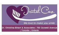 Screenshot of dental care Toronto