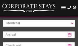 Screenshot of CorporateStays.com
