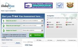 Screenshot of globalvisas