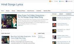 Screenshot of Latest hit songs lyrics