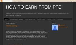 Screenshot of HOW TO EARN FROM PTC