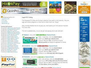 Screenshot of Best PTC Paying Sites | One Stop PTC Earning