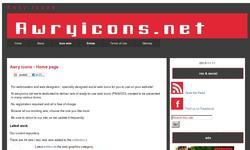 Screenshot of Awryicons.net - Social web icons & graphics