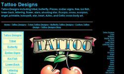 Screenshot of Tattoo Designs