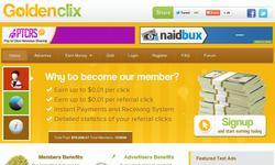 Screenshot of Goldenclix : The Best Paid-To-Click Site