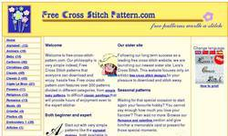 Screenshot of Free Cross Stitch pattern and counted cross stitch patterns to download.