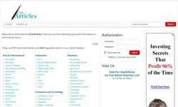 Screenshot of iCanArticles