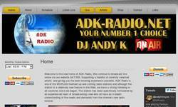 Screenshot of Adk-radio.net