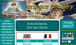 Screenshot of Christian Comic Strips, Puzzles, Sweepstakes, and Wallpapers!