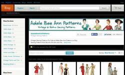 Screenshot of Adele Bee Ann Patterns on Etsy