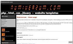 Screenshot of Numiverzum.com - website template provider