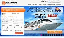 Screenshot of C & E Holidays - Singapore Travel Agency | Tours, Flights, Hotels, Cruises