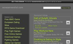 Screenshot of Wow Servers List