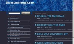 Screenshot of Discount golf for sale