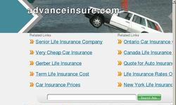 Screenshot of Advanceinsure.com Information for all insurance site.