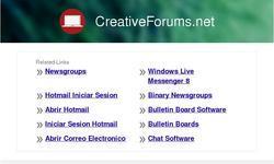 Screenshot of Creativeforums