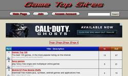 Screenshot of Game Top Sites
