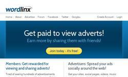 Screenshot of WordLinx - Get paid to view adverts!