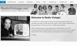 Screenshot of Radio Vintage