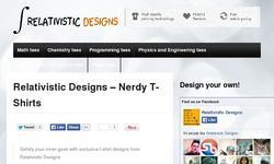 Screenshot of Relativistic Designs - Nerdy and Funny T-Shirts