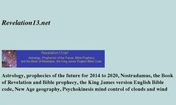 Screenshot of Predictions of future world events, Astrology, Prophecies Bible and Nostradamus